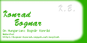 konrad bognar business card